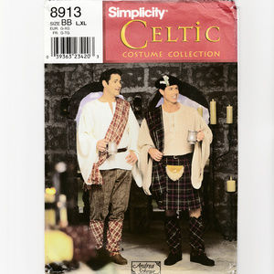 Mens Celtic Costume-Sewing Pattern-Scottish Kilt